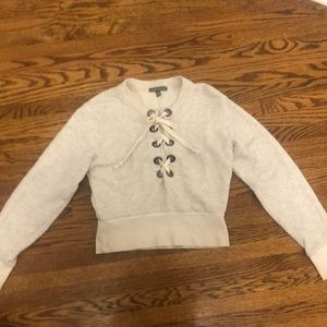 American Eagle's Don't Ask Why lace up sweater